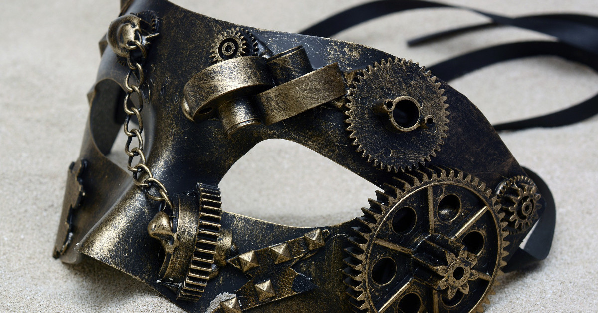 mascara de latex steampunk